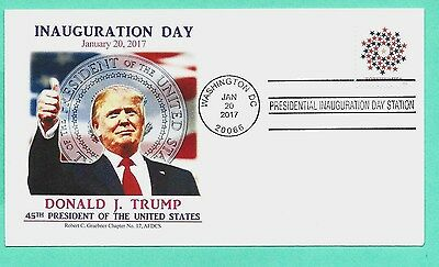 Donald Trump 2017 Inauguration Cover , Graebner Cachet-Patriotic Spiral Stamp