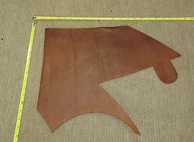 BROWN VEG TAN BUTT LEATHER  OFF CUT 5-6 mm THICK EX KINGS TROOP SADDLE LEATHER