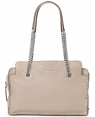 NWT NEW Authentic Michael Kors Astor Large Leather Satchel Bag ~Cement