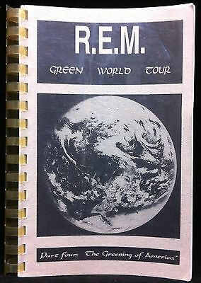 R.E.M 1989 Green World Tour Part Four: The Greening Of America Concert Itineray