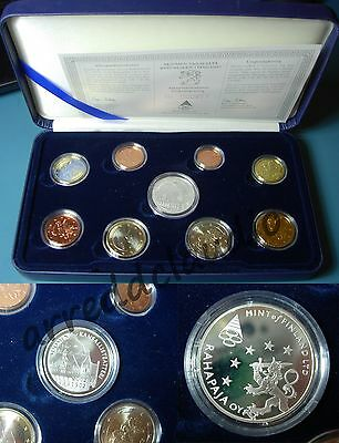 Finland Suomi Finlandia 2002  Euro Set Proof Cofanetto