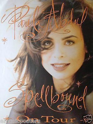 "PAULA ABDUL ""SPELLBOUND ON TOUR"" U.S. PROMO POSTER - 80's Pop Dance Superstar"