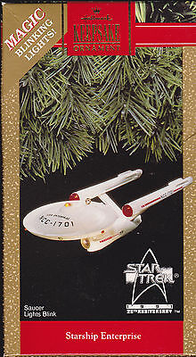 1991 Hallmark Star Trek U.S.S. Starship Enterprise  Magic Lighted Ornament NIB