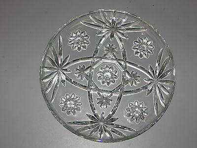 1 Early American Prescut Glass  snack plates