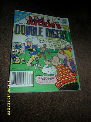 1989 Archie's  Double  Comic Book Digest Magazine #41 Playing Soccer