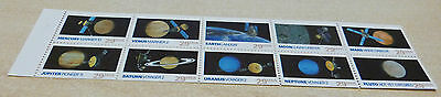 unfolded booklet pane of 10 2577a Space Exploration MNH