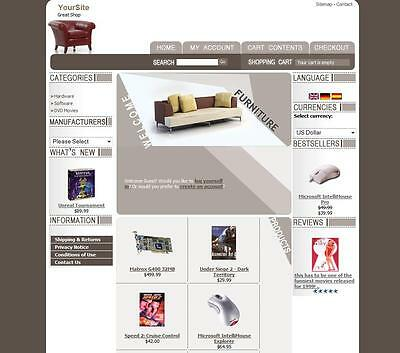 Furniture Store Website Business For Sale OsCommerce