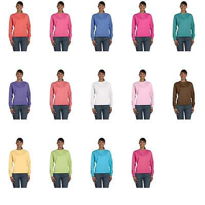 Comfort Colors Women's Garment-Dyed Wide-Band Fleece Crew Sweatshirt. 1596