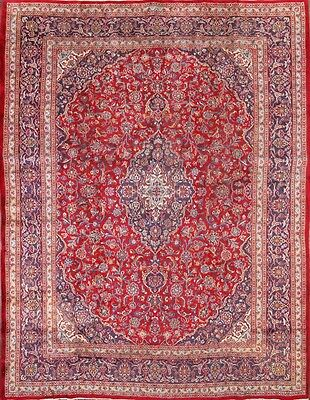 "Great Deal Semi-Antique Red 10x13 Mashad Persian Oriental Area Rug 12' 6"" x 9' 8"