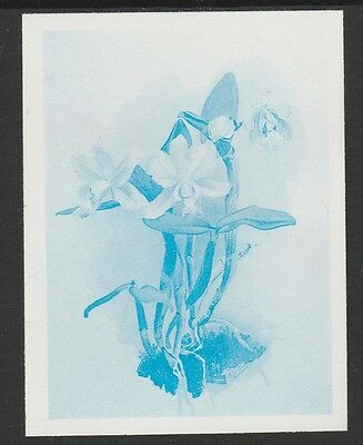 Guyana (1658) - 1985 Orchids IMPERF PROOF in BLUE ONLY  unmounted mint