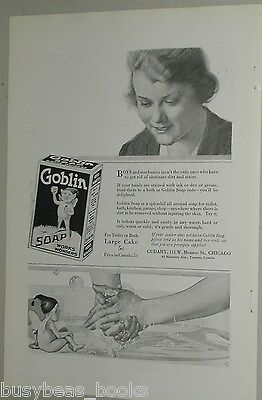 1918 Goblin Soap advertisement, Lady washing hands