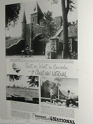 1948 Canadian National Railway advertisement, CNR, tourist sites in Canada