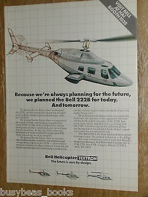 1985 Bell Helicopter advertisement, Bell 222B helicopter