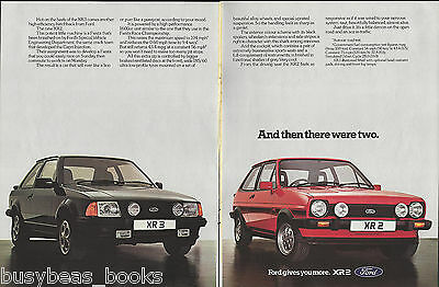 1982 FORD XR2 & XR3 2-page advertisement, British advert, Ford XR 2 & 3