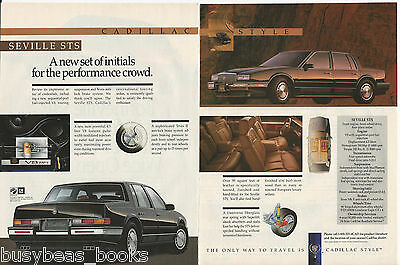 1990 CADILLAC SEVILLE 2-page advertisement, Cadillac Seville STS