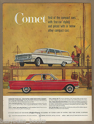 1960 MERCURY COMET advertisement, Comet wagon & coupe, large size advert