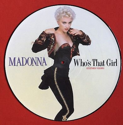 """MADONNA -Who's That Girl- Rare UK 12"""" Picture Disc. (Original Vinyl Record)"""
