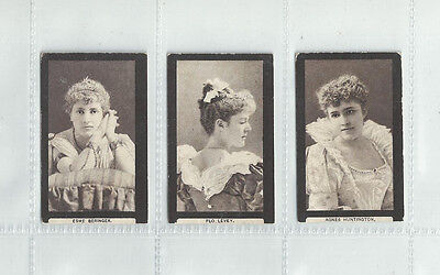 Cat £96.00...3 Cards From B.morris 1900 Set......actresses (Gold Seals Back)