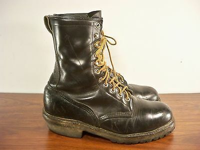 Vtg Red Wing Made in USA Men's Hunting Work Motorcycle Leather Boots Size 10.5