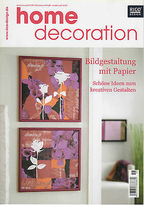 Bastelheft von RICO DESIGN Home Decoration No. 46 - Bildgestaltung mit Papier