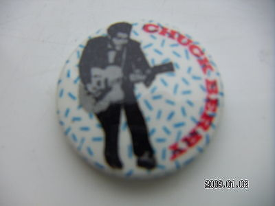 Chuck Berry Pop Music Picture Badge