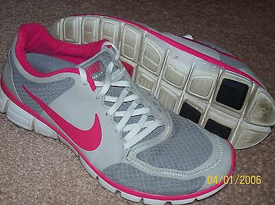 Womens Nike Free 7.0 Gray Pink Athletic Shoes Size 11
