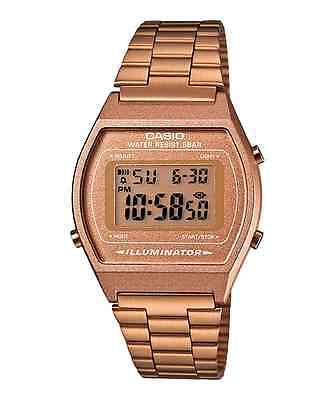 "Casio B640Wc-5Aef ""rose Gold New Model. Wr. 50 M. Chrono-Alarm"" Retro."