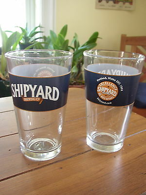 Shipyard Brewing Co. pint Beer Glasses, set of 2