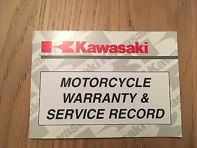 New Unused Kawasaki Motorcycle Warranty Book Service Book Genuine Moped Scooter