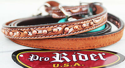 Horse 8ft Contest Western Tack Barrel Leather Rein 6635