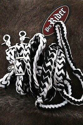 Horse LOT OF 12 Roping Knotted Tack Western Barrel Reins Nylon Braided 60703Bulk