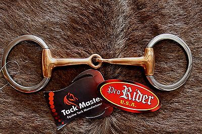 """Stainless Steel English Western 5"""" Copper Mouth Eggbutt Snaffle Horse Bit 3510"""