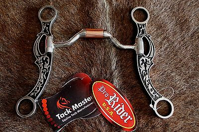Horse Stainless steel hinged port with copper barrel mouthpiece 3532