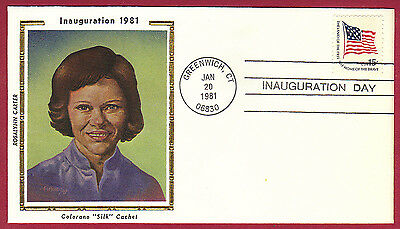 "1981 15c INAUGURATION COVER, Rosalynn Carter, outgoing ""First Lady"", Colorano"