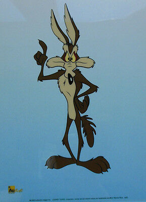 Warner Bros Original Animation Art Sericel Cel Wile Coyote Beep Beep