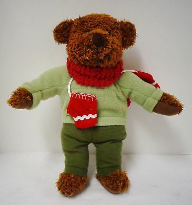 """Hallmark Teddy Bear with Mittens (Pre-owned) 14"""" high"""
