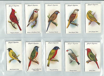 CAT £50.00 EXC JOHN PLAYER 1933 SET 50......AVIARY AND CAGE BIRDS (new sleeves)
