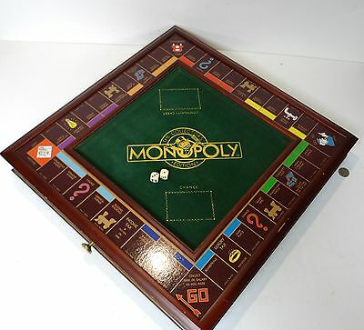 Franklin Mint The Collector Edition Monopoly Set Board w/ Money Chest Cards Dice