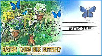 3D 2016 Eastern Tailed Blue Butterfly First Day of Issue Cover