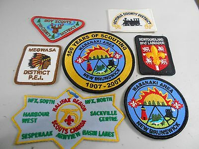 (Rs5-R) Seven Atlantic Province Badges    Unused   Canadian Scout Badges