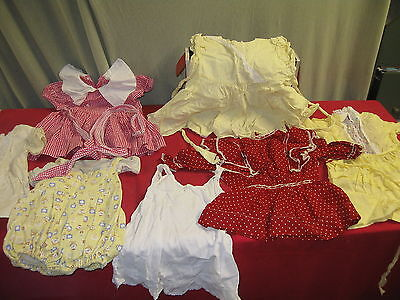 Lot Of Seven Pieces Girls Vintage Dresses Clothing Large Doll