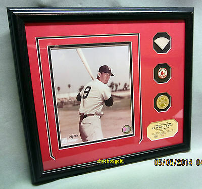 TED WILLIAMS GAME, Boston Red Sox, USED BAT PHOTOMINT Display, Ltd to 350