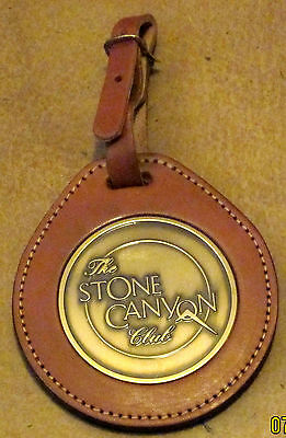 Golf BAG TAG - THE STONE CANYON - Brass & Leather Ring