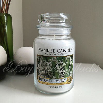 Yankee Candle ~ LILY OF THE VALLEY ~ *Free Shipping* 22oz Large Jar