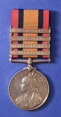 British Queen's South Africa Medal 1899-1902 11Th Imperial Yeomanry 4 Bar Ab0189