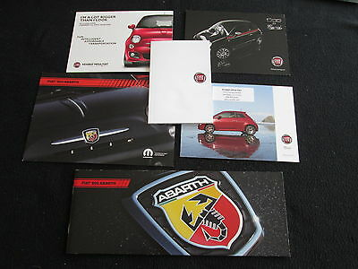 2012 Fiat Brochure & Card Set 500 Abarth Gucci Pop Sport Lounge Catalog Set