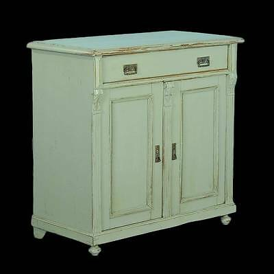 Antique Vintage Painted Sideboard, circa 1880