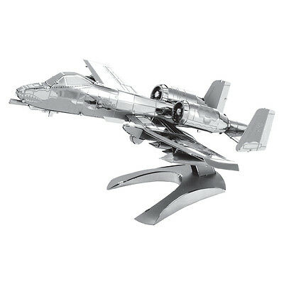 A-10 Thunderbolt II Warthog 3D-Metall-Bausatz Silver-Edition Metal Earth 1109
