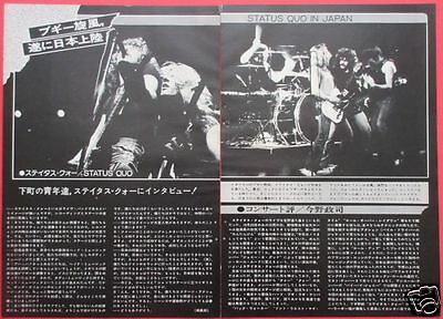 STATUS QUO in JAPAN 1975 CLIPPING JAPAN MAGAZINE ML 11A 2PAGE