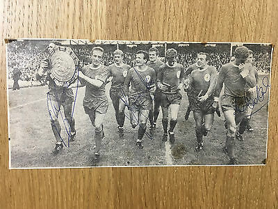 Rare Liverpool signed picture Yeats Smith Lawler autographs Charity Shield 1966